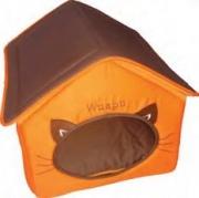 [Gato]WUAPU Casita marrón/naranja