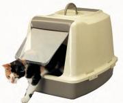 [Gato]Savic Casita puerta/filtro antracita Cat-o-net W.C.